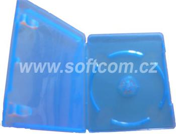 Blu-Ray DVD box for 1 disc, 12 mm spine, super clear blue, with booklet