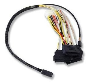 Broadcom LSI internal cable 0.6 m Mini-SAS HD (SFF-8643) to 4x SAS with power (SFF-8482)