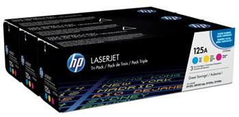 HP 125A Toner CMY 3-pack, CF373AM