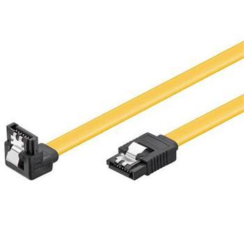 SATA III kabel 6 Gb/s, 0,5m se západkami žlutý lomený