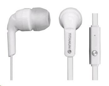 Titanum TH109W Stereo sluchátka do uší s mikrofonem, bílá
